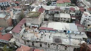 (Ek hava fotoğraflarıyla) - Dronea yakalanan tarih talancılarının yaptıkları barakalar yıkıldı