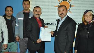 Harmancıkta, AK Partide belediye başkanlığına ilk aday adayı Adil Akalın oldu