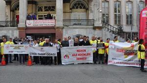 İzmirde aile hekimleri mobbinge hayır eylemi yaptı