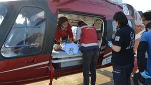 Rüzgar bebek ambulans helikopterle İstanbula sevk edildi