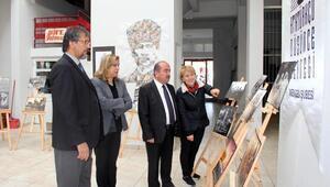 Mengende Atatürk resimleri sergisi açıldı