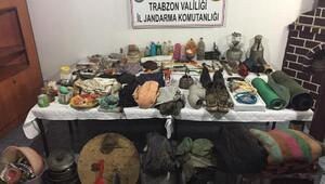 Trabzonda PKKlı teröristlere ait yaşam malzemeleri bulundu