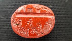 Roma dönemine ait 1800 yıllık yüzük taşının benzeri yok