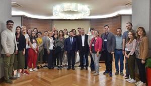 Yabancı öğretmenler, Sarıçam Belediyesini ziyaret etti
