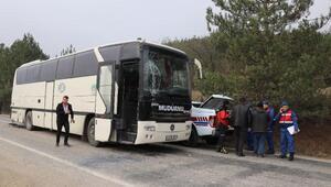 Öğrencileri fuara götüren otobüsler çarpıştı: 11 yaralı