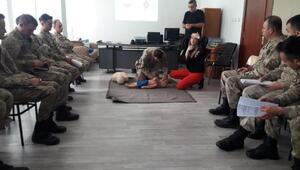 Kilis'te, jandarmaya ilk yardım eğitimi