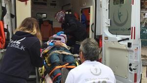 Bir kişinin yaralandığı zincirleme kaza kamerada