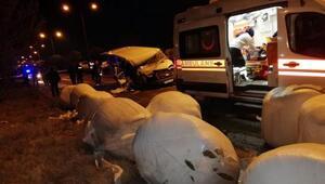 Minibüs traktörle çarpıştı: 1 ölü, 5 yaralı