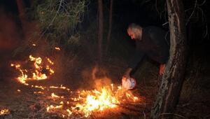 Kemer'de ormanlık alandaki yangın büyümeden önlendi