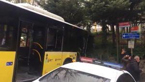 Kuruçeşmede İETT otobüsü kaza yaptı