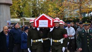Kore gazisi, askeri törenle toprağa verildi
