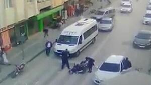 Motosikletin yayaya çarpıp ölümüne neden olduğu kaza, kamerada