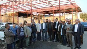 Başkan Demirkol, oduncu pazar esnafını ziyaret etti