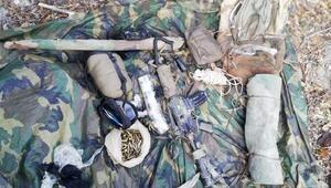 Tuncelide teröristlerin sığınakları imha edildi, silah ve mühimmat ele geçirildi