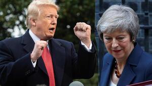 Trump şimdi de Theresa Maye sert çıktı