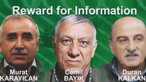 Amerikalı yetkiliden önemli mesajlar: 3 PKKlının başına ödül ciddi bir adım