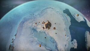 Grönlandde buz tabakası altında dev krater keşfedildi