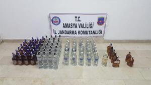 Amasya'da kaçak içki operasyonu; 3 gözaltı