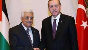 Cumhurbaşkanı Erdoğan, Mahmud Abbasla görüştü
