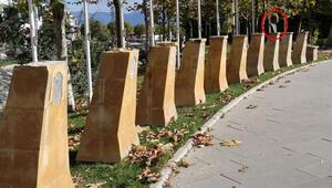 Şehitler Parkındaki 9 Türk büyüğünün büstü çalındı