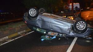 Nazillide otomobil takla attı: 5 yaralı