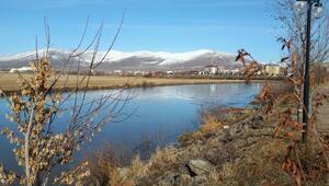 Kura Nehri buz tuttu/ Ek fotoğraflar