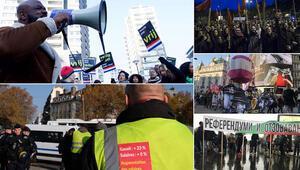 Avrupa genelinde hafta sonu protestolar düzenlendi