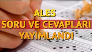 ALES Soruları ve cevapları erişime açıldı 30 Kasıma kadar görüntülenebilecek