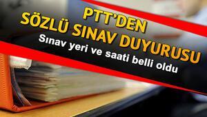 PTT 2018/1 personel alımı sözlü sınav tarihleri açıklandı