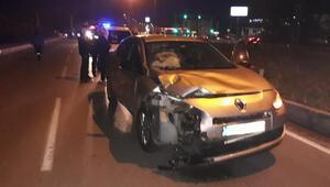 Otomobil ile çarpışan motosikletteki karı-koca öldü