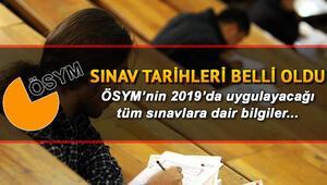 ÖSYM sınav takvimi açıklandı | 2019 YKS KPSS ALES DGS YDS sınav tarihleri