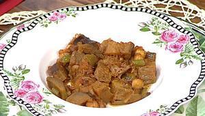 Etli patlıcan yemeği nasıl yapılır Nohutlu etli patlıcan tarifi