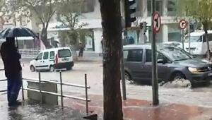 Tirede yağmur ve dolu etkili oldu