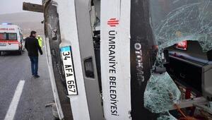 Darendede midibüs devrildi: 7 ölü, 15 yaralı/ Fotoğraflar