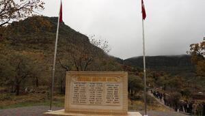 Şırnakta Çevrimli Şehitler Anıtı açıldı