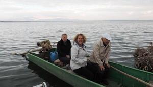 Kaymakam Tanrıkulundan Eber Gölünde inceleme