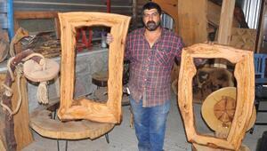 Odunluk ağaçları sanata dönüştürüyor