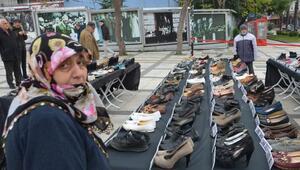 Bu ayakkabılar erkek şiddeti  kurbanı 307 kadını simgeliyor