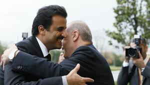 (Fotoğraflarla yeniden) - Cumhurbaşkanı Erdoğan, Katar Emiri ile bir araya geldi