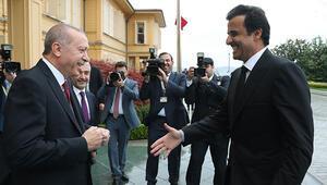 Erdoğan-Al Sani arasında sıcak görüşme