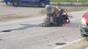 Otomobilin çarptığı ATVnin sürücüsü öldü