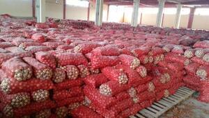 Ankarada depodan stoklanmış 1300 ton kuru soğan çıktı