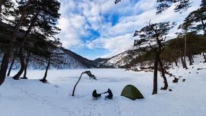 'Saklı cennet' Boraboy Gölünde kış güzelliği