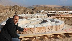 Hasankeyfteki 2 minarenin taşları tek tek sökülüyor