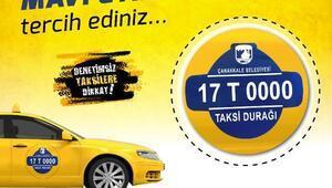 Çanakkalede taksilerde Mavi Etiket dönemi başladı