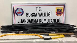 Kablo hırsızlarına jandarma ekiplerinden suçüstü