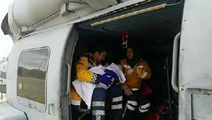 Deniz Kuvvetleri helikopteri Zehra bebek için havalandı
