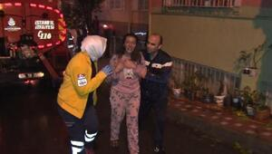Bayrampaşada yangın: 5 kişi dumandan etkilendi