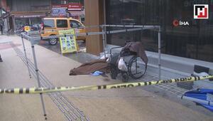 Dilendiği tekerlekli sandalyesinde öldü