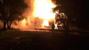 Orhangazide yangın; bir ev  kül oldu